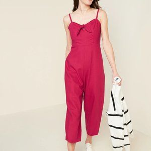 NWT old navy Tie Front pink jumpsuit